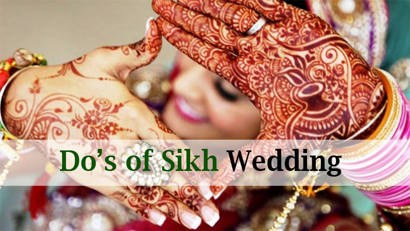 Do's of Sikh Wedding